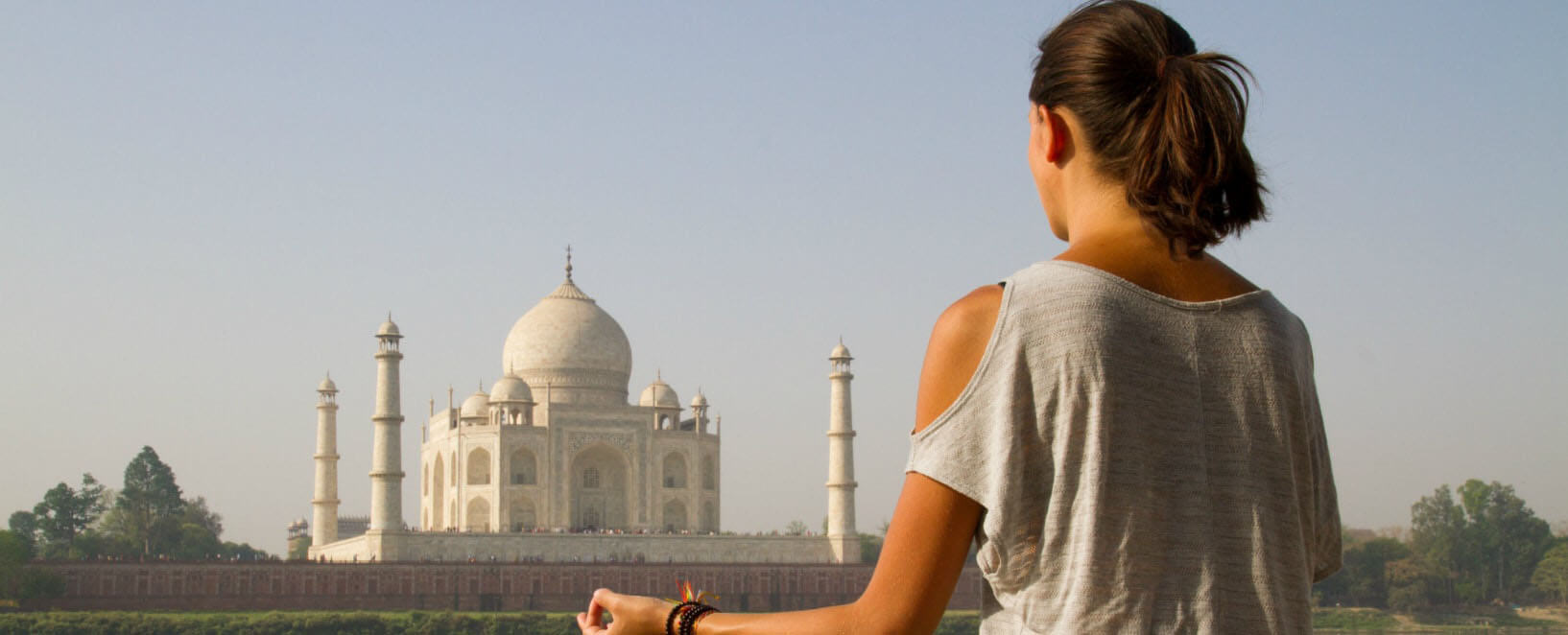 Yoga by Taj Mahal